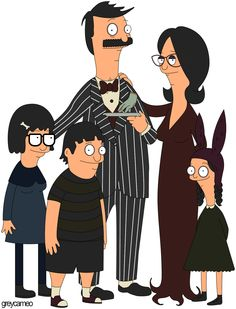 AHHHH!!! Bob's Burgers/Addams Family mashup!! two of my all time faves, I'm in love.