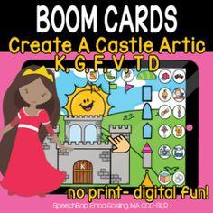Boom Cards - Speechbop Rainbow Sprinkles, Speech Therapy, Distance, Castle, Essentials, Positivity, Author, Student, Teaching