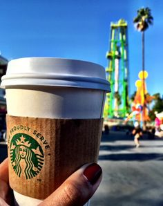 We are mildly obsessed with the new Starbucks inside Knott's Berry Farm and their Boysenberry Latte