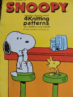 Snoopy Woodstock Peanuts Charlie Brown Sweater Children & Adult's Knit PATTERN No 550 Vintage Knitting Patterns Intarsia Knitting, Intarsia Patterns, Cross Stitch Patterns, Knitting Patterns, Crochet Patterns, Retro Cartoons, Charlie Brown Peanuts, Costume Patterns, Snoopy And Woodstock