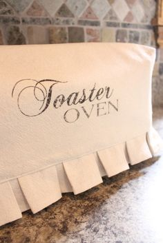 Toaster Oven Cover  This is NOT your Mother's toaster oven cover!