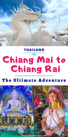 international travel idea A day trip from Chiang Mai to Chiang Rai in Northern Thailand is an incredible journey through enchanted temples, history, and culture! Visit Thailand, Thailand Travel, Asia Travel, Travel Tips, Travel Guides, Northern Thailand, Thai Art, Koh Tao, Family Travel