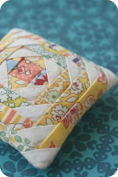 my pineapple pincushion. by rachelgriffith, via Flickr