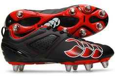 Phoenix Club 8 Stud SG Rugby Boots Black/Molten Lava/White
