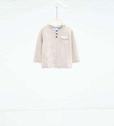Imagem 1 de Camisola gola estilo padeiro básica da Zara