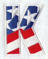 Patriotic Letter K