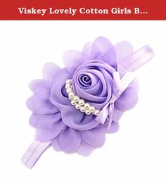 Viskey Lovely Cotton Girls Baby Headbands,Pearl,purple. Beautiful and lovely baby headbands is a decoration and gift for your little girls, which make them more charming and more elegant.