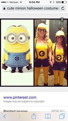 Cute minion Halloween costume! Minion Halloween Costumes, Cute Minions, Magnets