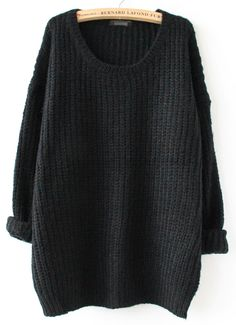 Shop Black Long Sleeve Loose Sweater online. Sheinside offers Black Long Sleeve Loose Sweater & more to fit your fashionable needs. Free Shipping Worldwide!