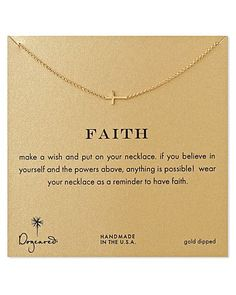 Dogeared Gold Whisper Cross Necklace, 18 | Bloomingdales