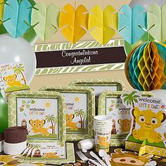 Disney Lion King baby shower themed party supplies.