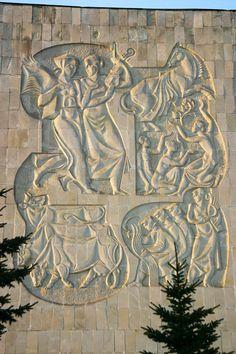 Buddha Wall Art, Architectural Sculpture, Clay Wall Art, Soviet Art, Mural Art, Hanging Wall Art, Dwarf, Public Art, Paint Designs