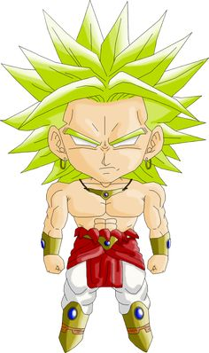 Personajes Chibi de Dragon Ball- Broly Legendario
