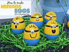 Looking for Easter egg designs and decorating ideas? If you want fun and easy DIY Easter crafts and egg designs this is the list for you! Minion Easter Eggs, Funny Easter Eggs, Easter Egg Dye, Hoppy Easter, Easy Easter Crafts, Egg Crafts, Crafts For Kids, Holiday Crafts, Holiday Fun