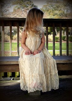 little girl's dress made from a woman's lace skirt.  great tutorial