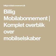 Billig Mobilabonnement | Komplet overblik over mobilselskaber