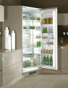 Kjølehjørne Helintegrert 2.10 m Kitchen Ideas, Kitchen Design, Bathroom Medicine Cabinet, Corner, Design Of Kitchen