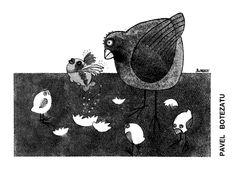 Caricatura de PAVEL BOTEZATU, publicata in almanahul PERPETUUM COMIC '97 editat de URZICA, revista de satira si umor din Romania