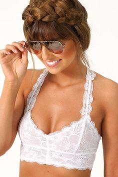 RESTOCK: Lovely In Lace Bralette: White #shophopes