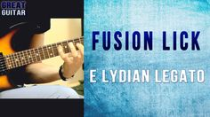 GUITAR LICK LESSON Hey guys. Here's a cool sounding fusion guitar lick in E lydian used pentatonic legato for you all. Slow / Fast tempo. Tabs at the end of ...