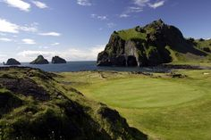 Golf in Westmann Islands - Golfers rejoice! You have to play this fantastic 18 hole course set in the Westmann Islands and be continually amazed at the dramatic backdrop and immense beauty that showcase the natural splendour of the Islands. The course was opened in 1938 and partly built into the volcanic crater in the Herjólfsdalur valley. Location:   Torfamýrarvegi, Vestmannaeyjar  Tel: +354 481 2363 / gvgolf.is