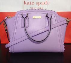 NWT KATE SPADE Lilac Road Small Marguerite Leather Satchel Handbag -Light Crocus #katespade #Satchel
