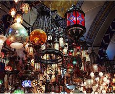 TURKISH LAMPS - GRAND BAZAAR ISTANBUL TURKEY
