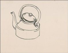 original Sylvia plath drawing kettle