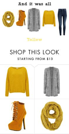 """""""And It Was All Yellow ~ Coldplay"""" by mary-sukala on Polyvore featuring American Vintage, WearAll, Bonnibel, H&M, yellow, music, rock, casualoutfit and coldplay"""
