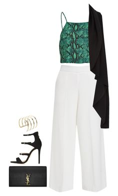 """""""Sleeker"""" by hernamewaslily ❤ liked on Polyvore featuring Topshop and Yves Saint Laurent"""
