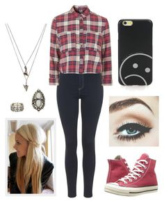 """""""Lilah"""" by annie-stylesx ❤ liked on Polyvore featuring Topshop, Converse, Marc by Marc Jacobs and Lauren Wolf"""