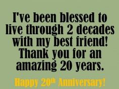 20th Anniversary Wishes: Quotes and Messages to Write in a Card
