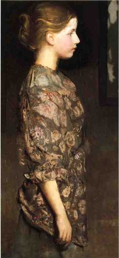 """Portrait of Alice Rich,"" Abbott Handerson Thayer, ca. 1917, oil on board, 43.5 x 21.5"", private collection."