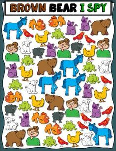 Brown Bear I Spy --- Count, Tally, and Graph ***FREEBIE*** |