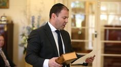 Josh Frydenberg is sworn in as Minister for Resources, Energy and Northern Australia.