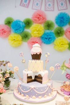 Cake | Candy Garden Themed Birthday Party