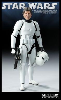 Sixth Scale Figure - Han Solo and Luke Skywalker in Stormtrooper Disguise #2179
