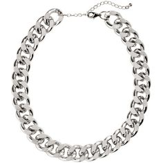 H&M Chain necklace ($12) ❤ liked on Polyvore featuring jewelry, necklaces, accessories, colares, silver, h&m, adjustable chain necklace, chain necklace, h&m jewelry and adjustable necklace