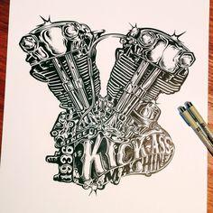 KICK ASS MACHINE - Ink on paper.