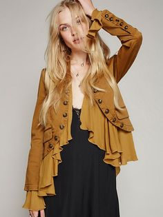 Gingersnap Combo Romantic Ruffles Jacket at Free People Clothing Boutique