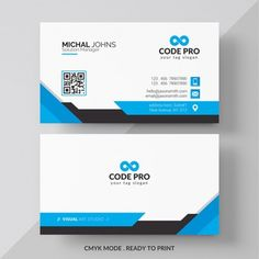White business card with red and black details PSD file Printable Business Cards, Free Business Card Templates, Free Business Cards, Professional Business Card Design, Elegant Business Cards, Creative Business, Corporate Business, Business Logo Creator, Logo Nasa
