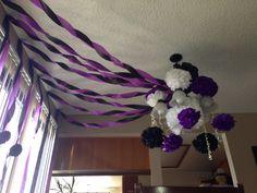 Decorating for nightmare before Christmas baby shower   For more ideas  http://instagram.com/honeybeescakepops