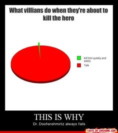 This is why Dr. Doofenschmirtz always fails.