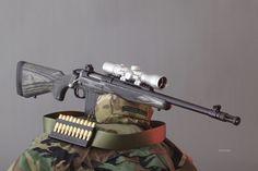 Ruger Gunsite Scout .308 http://www.personaldefenseworld.com/2013/07/sneak-peek-ruger-gunsite-scout-308-the-complete-book-of-guns-2014/