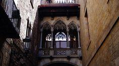 Spanien Barcelona Das Gotische Viertel Balkon