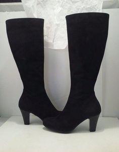 7a842936b70 La Canadienne Dawson Women s Dress Black Nubuck Knee High Boots Size 5.5 M   LaCanadienne