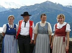 Switzerland Folk Dresses