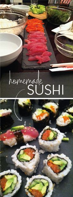 Recipe for DIY Homemade Sushi!  This is how I learned to make mine, and they are DELISH!