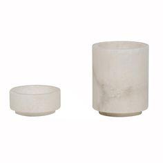 White Alabaster Desk Cups @ Pieces