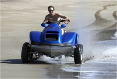 Quadski for driving on land and water